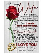 I Will Love You Till My Last Breath Great Gift From Husband To Wife Vertical Poster