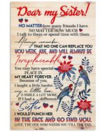 You Were Are And Will Always Be Irreplaceable Gifts For Sisters Vertical Poster