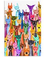 Doberman Colorful Funny Custom Design Gifts For Dog Lovers Vertical Poster