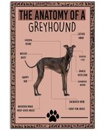 Anatomy Greyhound Gifts For Dog Lovers Vertical Poster