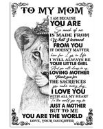 To My Mom To Me You Are The World Lion Gifts From Daughter Vertical Poster