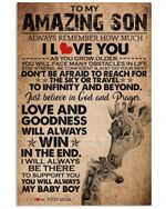 To My Amazing Son Love And Goodness Will Always Win Custom Design Vertical Poster