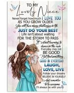 To My Niece I'll Always Be With You Gifts Vertical Poster