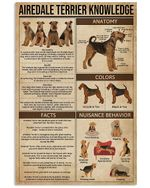 Airedale Terrier Knowledge Gifts For Airedale Terrier Lovers Vertical Poster