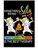 Something Being Silly With A Crazy Friend Gift For Unicorn Lovers Vertical Poster