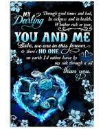 You And Me Are In This Forever Gifts For Lovers Vertical Poster