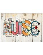 Nurse Whatever You Do Work At It With All Your Heart Colorful Design Horizontal Poster
