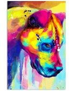 Sad Pitbull Water Color Gifts For Dog Lovers Vertical Poster
