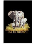 Save The Elephant Gifts For Elephants Lovers Vertical Poster