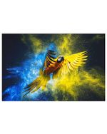 Beautiful Flying Parrot Custom Design For Bird Lovers Horizontal Poster