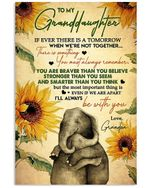 I'll Always Be With You Elephant Lovely Message Gifts For Granddaughters Vertical Poster