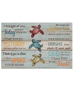 I Have You In My Heart Gift For Turtle Lovers Horizontal Poster