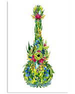 Special Flora Ukulele Custom Design For Music Instrument Lovers Vertical Poster