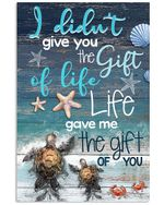 Life Gave Me The Gift Of You For Family Vertical Poster