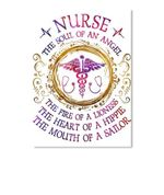 Nurse The Soul Of An Angel The Fire Of A Lioness Trending Peel & Stick Poster