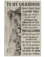 Never Forget That I Love You Gift For Grandson From Mammy Vertical Poster