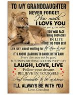 Never Forget How Much I Love You Gift For Granddaughter Vertical Poster