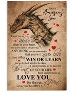 Love Message Of Mummy To Son Custom Design For Family Vertical Poster
