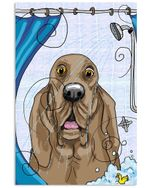 Basset Hound Takes Shower Unique Meaningful Gifts For Dog Lovers Vertical Poster