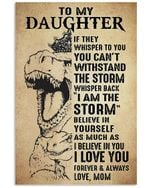 Dinasaur I Love You Forever And Always Gifts To My Daughter Vertical Poster