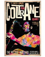 The Mecca Of Jazz Presents Coltrane Gifts For Saxophone Lovers Vertical Poster