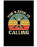 The Kayak Is Calling Retro Vintage Gift For Kayak Lovers Vertical Poster