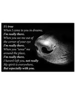 My Spirit Is Everywhere But Especially With You Lovely Message Design Horizontal Poster