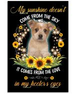 My Sunshine Comes From The Love In My Heeler's Eyes Trending Vertical Poster