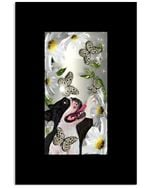 Boston Terrier Daisy And Butterfly Great Gift For Dog Lovers Vertical Poster