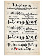 Take My Hand For I Can't Help Falling In Love With You Vertical Poster