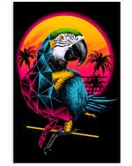 Parrot In The Beach Summer Custom Design For Bird Lovers Vertical Poster