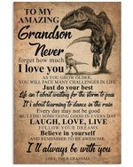 To My Amazing Grandson Never Forget How Much Gifts Vertical Poster