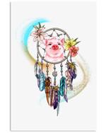 Pig Dreamcatcher Lovely Simple Custom Design Vertical Poster