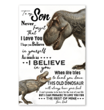 T-rex Gift For Son Never Forget That I Love You Special Custom Design Vertical Poster