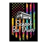 American Flag School Bus Driver Trending Personalized Job Gifts Peel & Stick Poster
