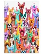 Funny Frenchie Multi Gifts For Dog Lovers Vertical Poster