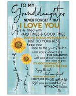 To My Sopgranddaughter Never Forget That I Love You Custom Design Gifts Vertical Poster