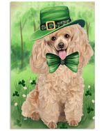 Poodle Puppy Shamrock For St.patrick's Day Gifts For Dog Lovers Vertical Poster
