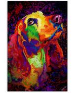 Basset Hound Water Color Unique Custom Design For Dog Lovers Vertical Poster