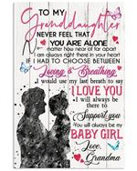 Lovely Message From Grandma For Granddaughters Vertical Poster