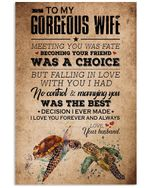 To My Gorgeous Wife I Love You Forever And Always Custom Design Vertical Poster