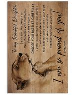 Love Message To Daughter Custom Design For Family Vertical Poster
