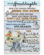 Don't Let Today's Trouble Bring You Down Gift For Granddaughter From Mom Mom Vertical Poster