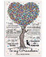 When Life Gets Hard And You Feel All Alone Mom Mom Gifts Vertical Poster