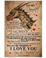 You Are My Daughter Lovely Message Gifts For Daughter Vertical Poster