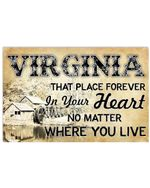 Virginia That Place Forever In Your Heart Custom Design Horizontal Poster
