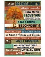 Always Remember How Much I Love You Quote Gift For Granddaughter From Granma Vertical Poster