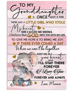 I Love You Forever And Always Gift For Granddaughter From Meema Vertical Poster