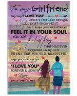To My Girlfriend I Love You Forever And Always Gifts From Boyfriend Vertical Poster