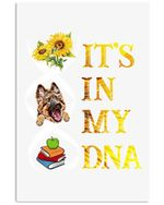 Sunflower Books German Shepherd Are In My Dna Trending Vertical Poster